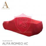 Alfa Romeo 4C Spider Indoor Cover  - Red