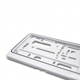 License plate holder in Trend-White (1 piece)