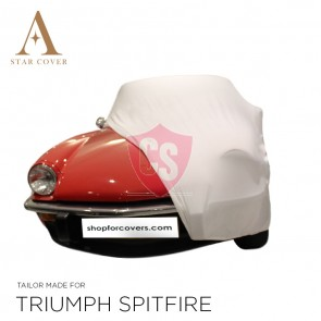 Triumph Spitfire Indoor Car Cover - White