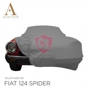 Fiat 124 Spider 1966-1985 - Indoor Car Cover - Silvergrey