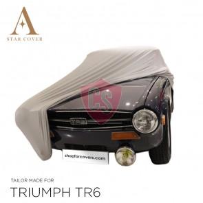 Triumph TR4 TR6 Cover - Tailored - Silvergrey