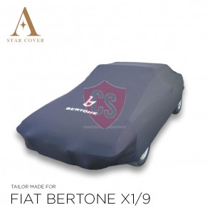 Fiat X 1/9 Indoor Cover - with Bertone emblem - black
