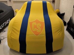 Porsche 911R 991 Car Cover - Tailored - Mirror Pockets - Yellow/Blue