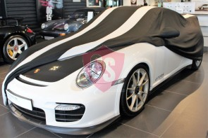 Porsche 911R 991 Car Cover - Tailored - Mirror Pockets - Black Silver