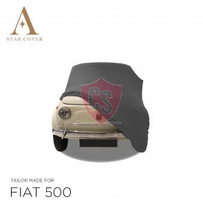 Fiat 500 - Indoor Car Cover - Silvergrey