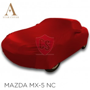 Mazda MX-5 NC Indoor Cover  - Mirror pockets - Red
