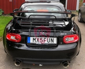 Mazda MX-5 NC (Mk 3) Coupe (Folding Roof - Steel) Luggage Rack - BLACK EDITION 2006-2014