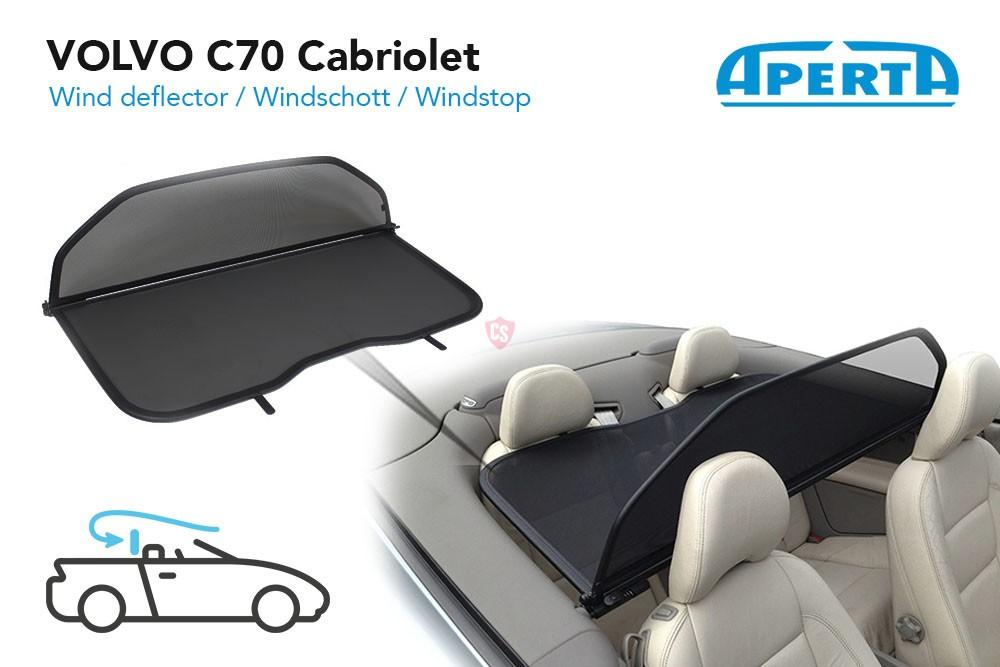 Volvo C70 Wind Deflector Black 2006 2014