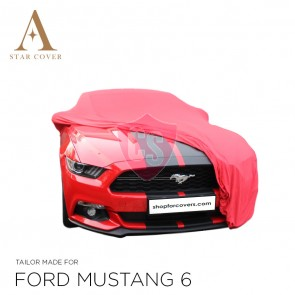 Ford Mustang 6 2014-2019 Indoor Cover - Red