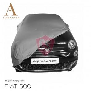 Fiat 500 500C - Indoor Car Cover - Silvergrey